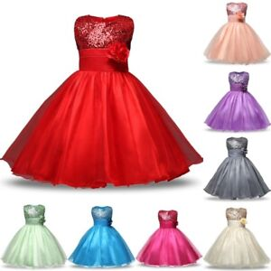 Flower-Girl-Princess-Dress-Baby-Party-Wedding-Bridesmaid-Formal-Tutu-Dresses-new