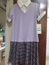 Girls 16 Rare Editions Lilac Dress NWT - Mock White Blouse and Lilac Sweater