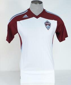 Image is loading Adidas-ClimaCool-MLS-Colorado-Rapids-White-Short-Sleeve- d18a0322a