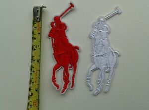 2 X Ralph Lauren Polo Embroidered Logo Sew Iron On Patch New 3cm