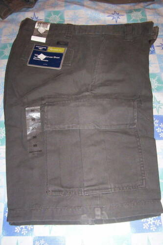 30 NWT MENS DOCKERS WASHED CANVAS CARGO SHORTS OLIVE