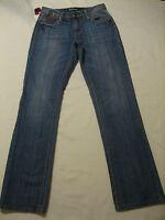 Petrol Nikki Boot Cut Blue Jeans Low Rise 100 Cotton Size 2 (30 Inseam 34)