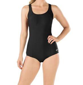 Speedo-Womens-Swimwear-Black-Size-14-Power-Flex-Ultraback-One-Piece-68-729
