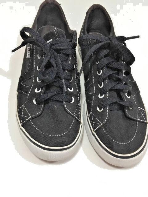 63cfcd4c63df2a Women s Vans Tory Size 6 Black Shoes Canvas Low Top Skate Retro