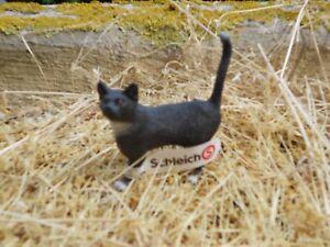 Schleich-13770-Katze-schwarz-Neu-mit-Etikett-Farm-World-Bauernhoftiere