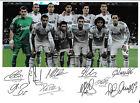 REAL MADRID C.F. - FOOTBALL TEAM - SIGNED TEAM PHOTOGRAPH - 2011 / 2012 SEASON