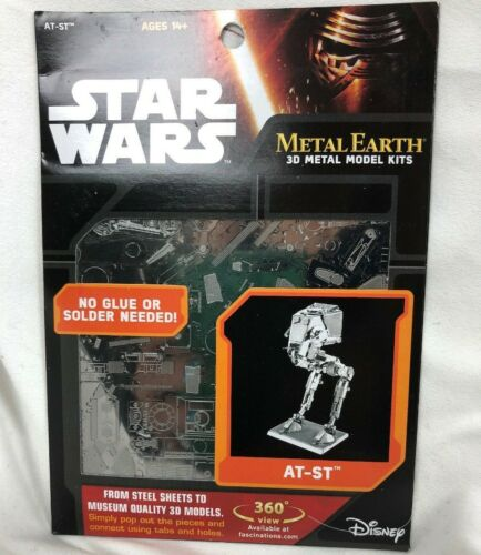 Metal Earth 3D Star Wars AT-ST Metal Model Kit #MMS261 Disney Fascinations