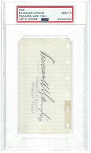 "HOF, KENESAW ""MOUNTAIN"" LANDIS, AUTO NOTEPAD PAGE, AUTHENTICATED AND AUTO GRADED"