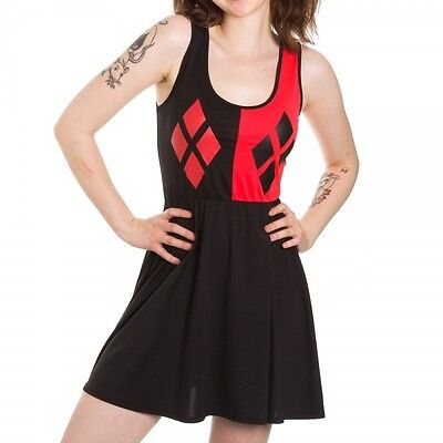 Harley Quinn Costume Dress DC Comics Licensed Tank Dress Skater Dress S-XL