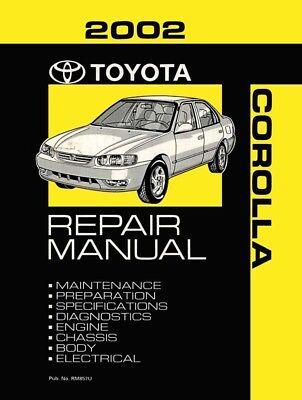 2002 toyota corolla shop service repair manual book engine rh ebay com 2002 toyota repair manual pdf 2002 toyota repair manual pdf