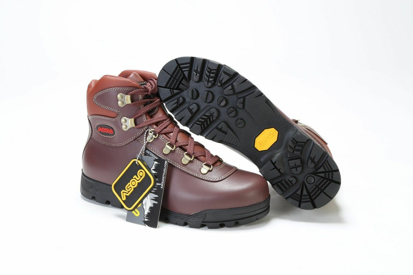 AUTHENTIC  MEN'S ASOLO SUNRISE BOOTS AS-402M BURGUNDY WATERPROOF WINTER BOOTS