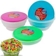 Plegable de almacenamiento de alimentos recipiente Plato Comidas Pet Microondas congelador, lavavajillas