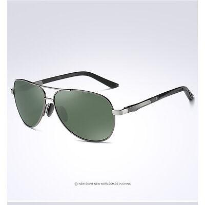 Men's Retro Polarized Metal Pilot Sunglasses Glasses Driving Fishing Eyewear