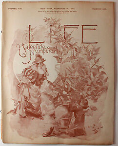 Original Feb 9 1893 Life Magazine Political Satire Amazing Ads