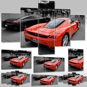 Leinwandbild canvas wandbild kunstdruck auto sportwagen - Wandtattoo ferrari ...