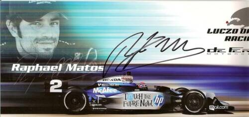 2010 RAPHAEL MATOS signed INDIANAPOLIS 500 INDY CAR HP PHOTO CARD POSTCARD HERO