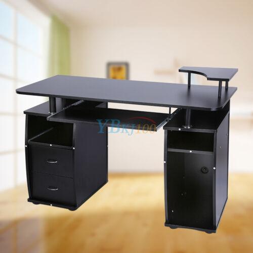 Schublade PC-Tisch 120*55 *85CM Computertisch Bürotisch Büro Eck Schreibtisch