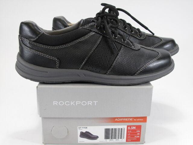 WT T-TOE Black Leather Walking Shoe