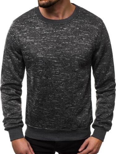 Felpa Pullover Sweatjacke Basic Manica Lunga Top Maglione Uomo OZONEE js//2001-30