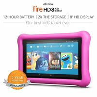 Amazon Kindle Fire 8 Pink Kids Edition 32 Gb Kid Proof Case - 2017 Release