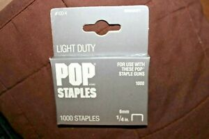"""8mm 5//16/"""" or 10mm 3//8/"""" ARROW JT21 T27 STAPLES BOX OF 1000 6mm 1//4/"""""""