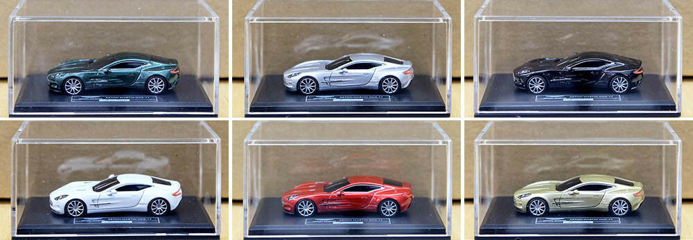6 x Aston Martin one-77 supercar Limited h0-01 1 87 voiture miniature car fronti-type