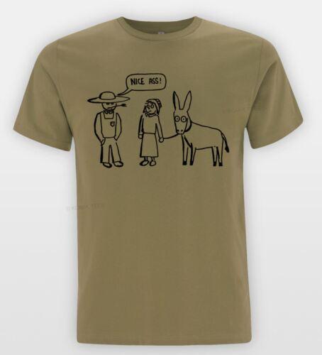 NICE âne drôle Donkey Blague T-shirt Amish Comic SKETCH TEE