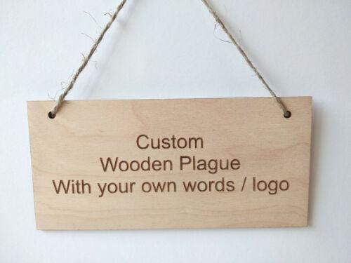 Custom Wooden Sign Plaque Laser Cut 3mm Birch Ply