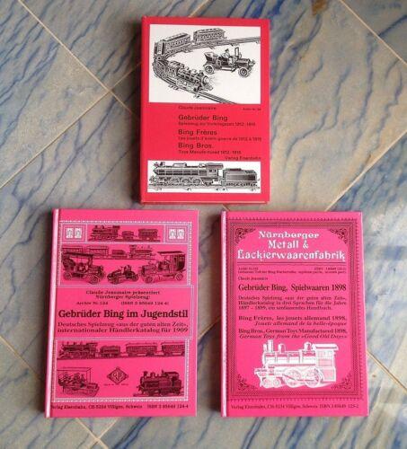 3 Bing Bücher für Spielzeugsammler Dampfmaschinen, Eisenbahnen, Schiffe +++ NEU