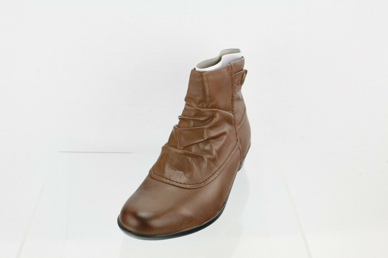 Women's Cobb Hill Veronica Brown Leather Flat Ankle Boots Size 7 M