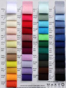 Liso-Color-Solido-TELA-POLYCOTTON-1-2M-1M-2M-3M-5Metre-114cm-44-034-Ancho
