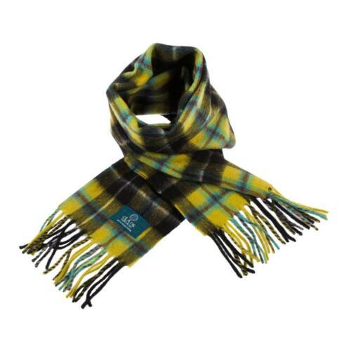 Scottish 100 /% Lambswool Tartan Clan Scarf Cornish National Brand New