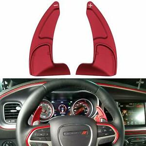 Will not fit STR Version 2pcs Aluminum Steering Wheel Shift Paddle Shifter Transfer Extension Interior Trim Cover for 2015-2020 Dodge Charger Challenger Durango RT /& Scat Pack Red