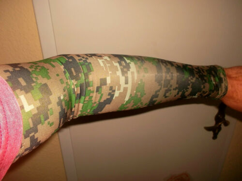 Camouflage Shooting Arm Cooling Sleeves Armguard Sleeve Cuffs Camouflage Pattern