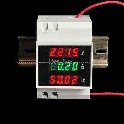 AC 220V-380v 100A Hz Din-rail digital AC Voltmeter Amperemeter Frequenzmesser