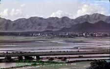Slide Photo Hong Kong New Territories Sham Chun River Red China Border 1960 B