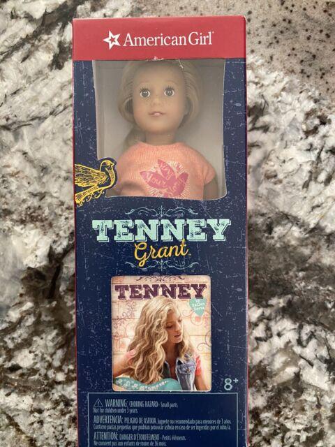 "American Girl Tenney Grant 6"" Mini Doll and Mini Book Brand New in Box"