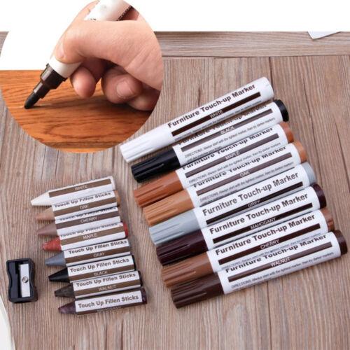KIT ritocco 8x Pennarelli+8x stucco cera riparare mobili porte graffi infissi