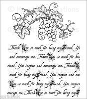 Heartfelt Creations Italiana Script Cling Mount Stamp Set Hcpc 3699