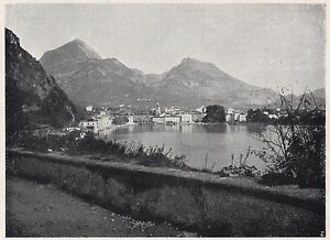 D2354-Riva-di-Trento-Veduta-generale-Stampa-d-039-epoca-1925-vintage-print