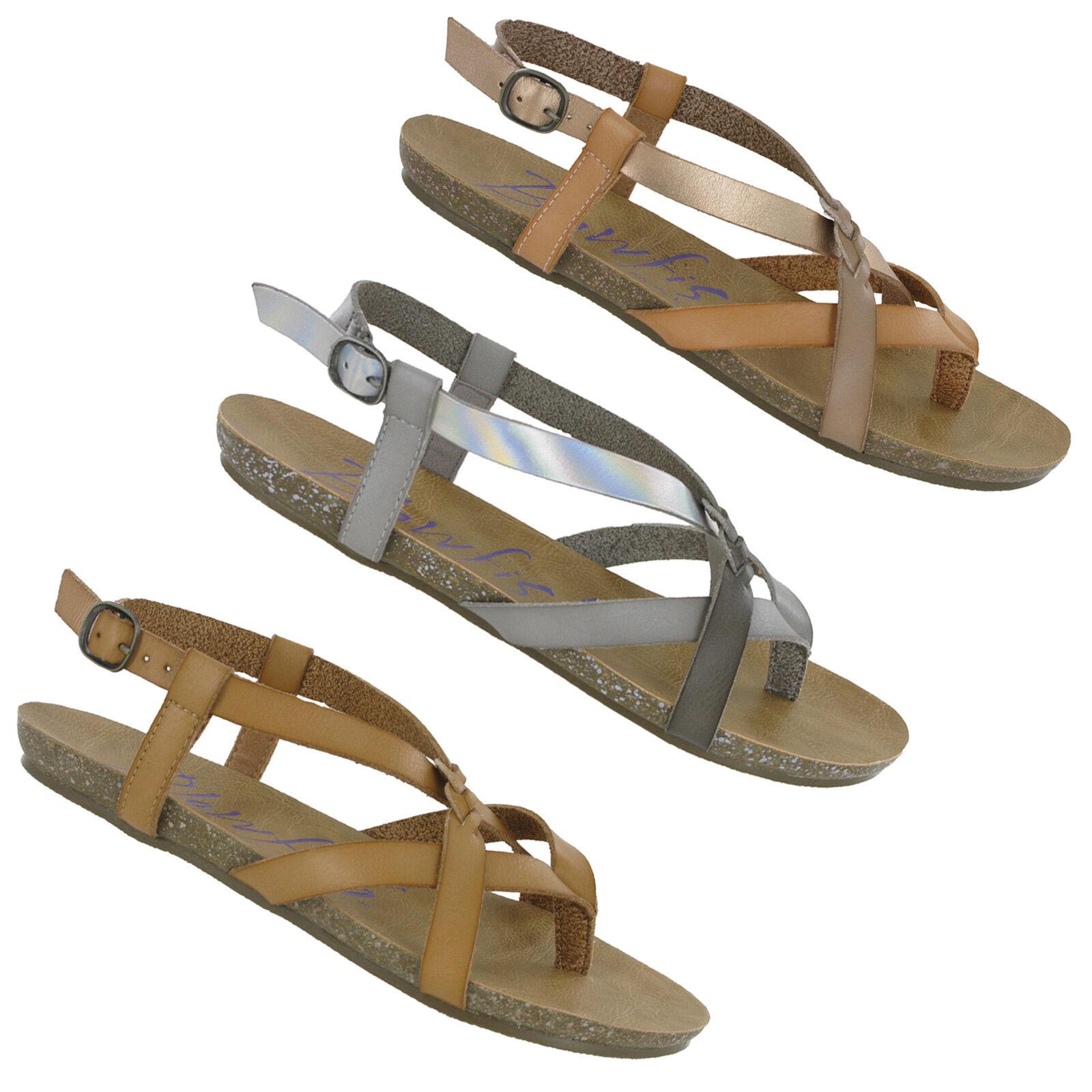 Blowfish Granola Planos Mujer Punta Abierta Sandalias de Moda Informal Informal Informal Zapatos  protección post-venta