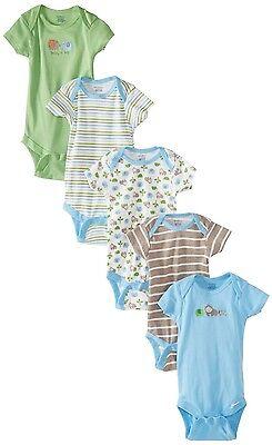 Gerber Baby-Boys 5 Pack Variety Onesies Elephants Design