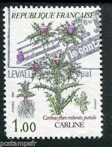 FRANCE - 1983, timbre 2266, FLORE, FLEURS, FLOWERS, CARLINE, oblitéré