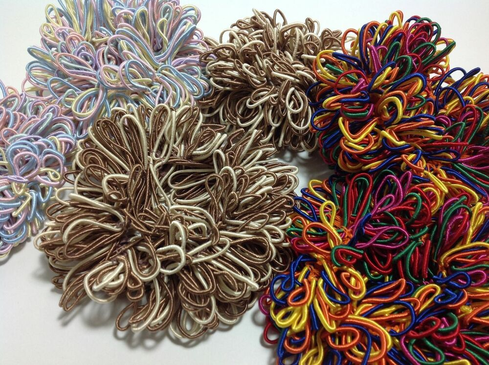 2 X Scrunchie Chouchou El Lazo Bandeau Tresse Au Choix Marron Coloré Pastelles Performance Fiable