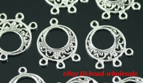 14pcs Tibetan silver earring connectors FOR jewelry making lots hi