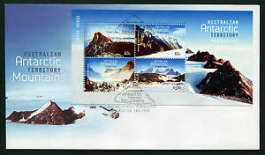 2013-AAT-Mountains-Minisheet-FDC-First-Day-Cover-Stamps-Australia