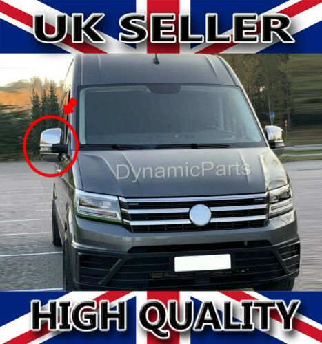 CHROME ABS WING MIRROR COVERS CAP SET VW VOLKSWAGEN CRAFTER 17 ONWARDS POLISHED