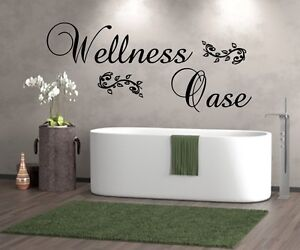 WT 201188 WANDTATTOO WELLNESSOASE WANDSTICKER BADEZIMMER SAUNA, Bad ...