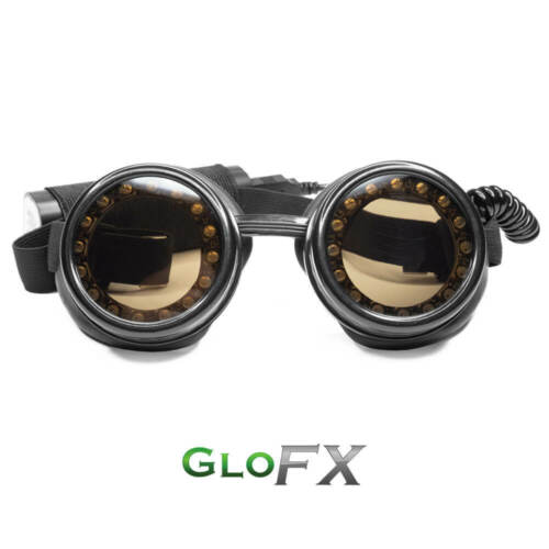 GloFX Pixel Pro LED Goggles with Pads Super Bright Rainbow Lights Round Shape