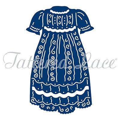 Stork 2016 Pram Christening Gown Baby Shoes Tattered Lace Dies CHOOSE Bonnet